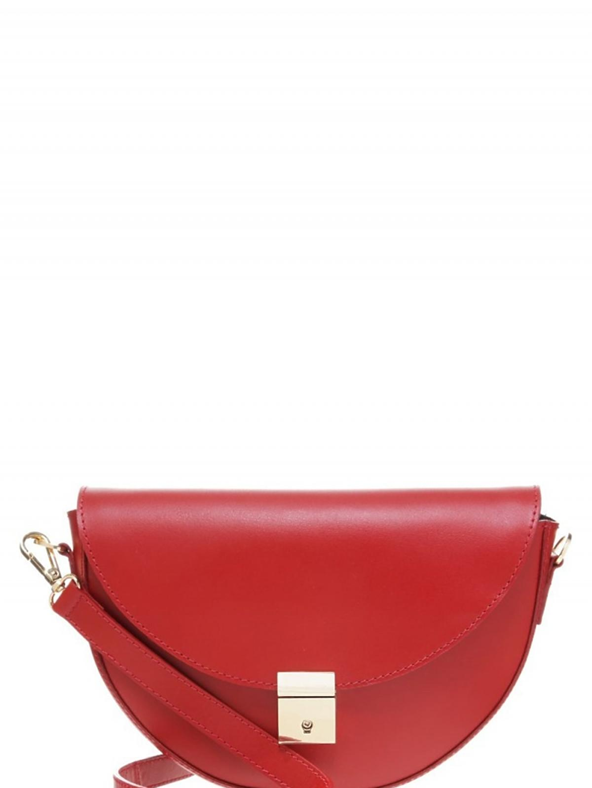 czarwona torba z paskiem