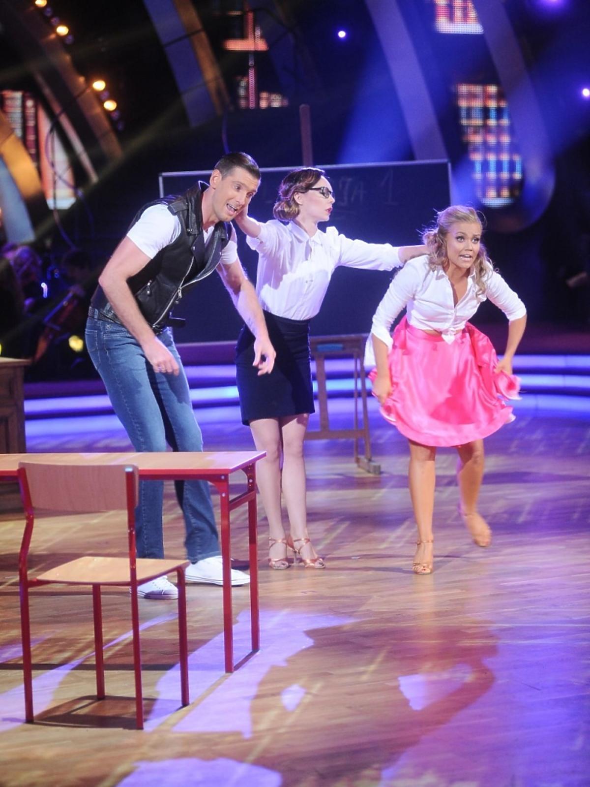 Agnieszka Kaczorowska, Nina Tyrka, Łukasz Kadziewicz w Tańcu z Gwiazdami