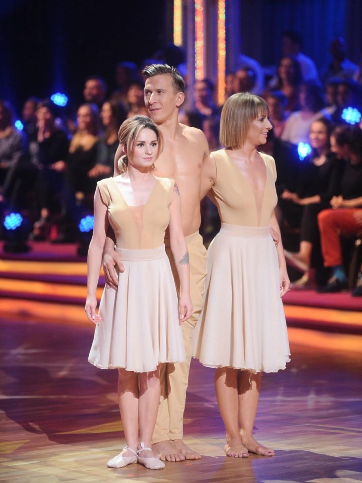Tomasz Barański w baletowym stroju, Ewelina Lisowska jako baletnica w Tańcu z Gwiazdami