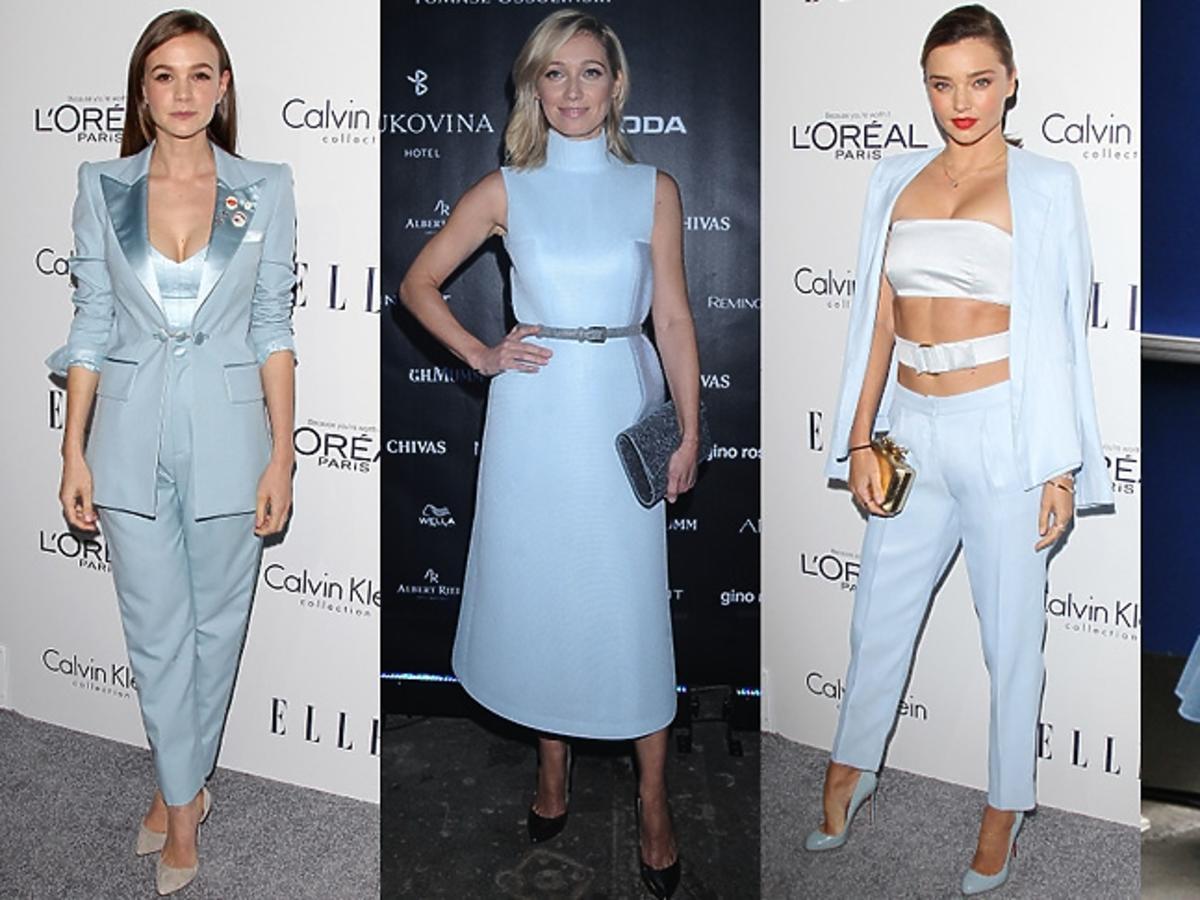 Joanna Orleańska, Cate Blanchett, Miranda Kerr, Carey Mulligan w kreacjach w błękitnym kolorze