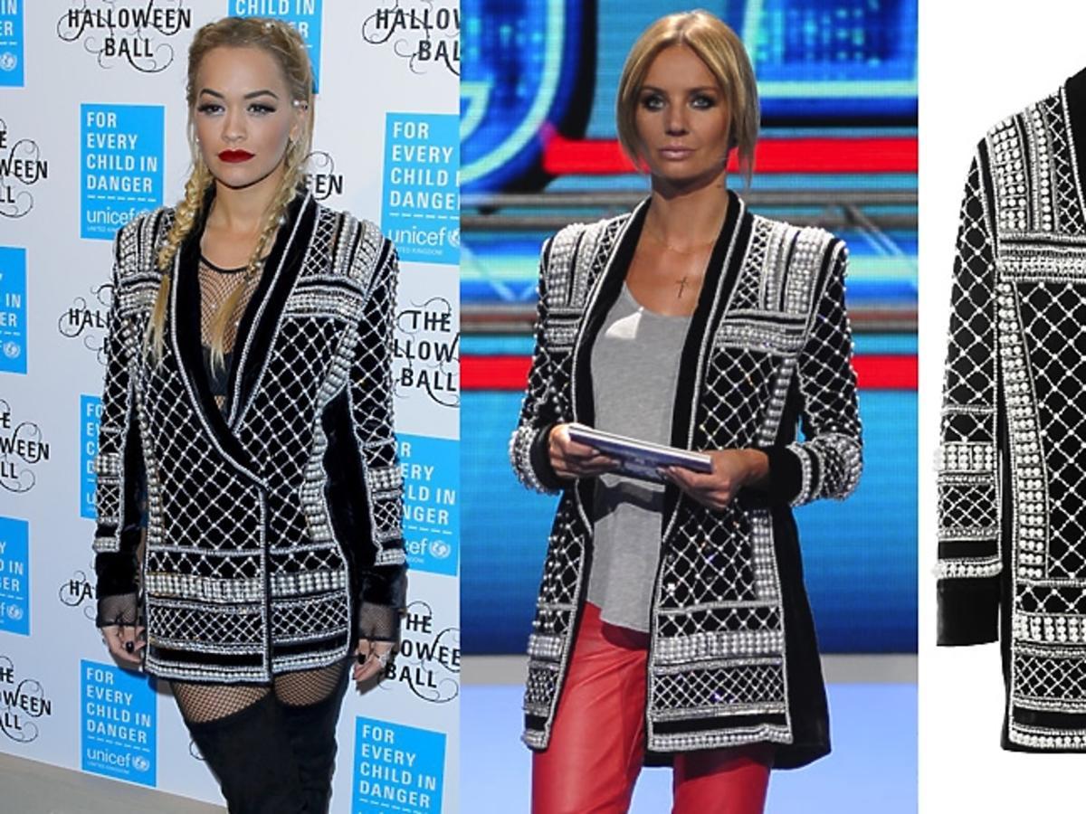 Rita Ora i Agnieszka Szulim w marynarce Balmain dla H&M