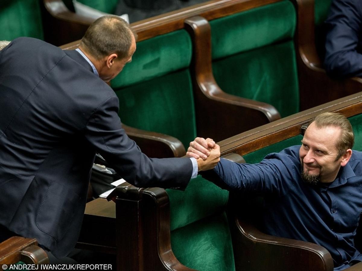 Liroy i Paweł Kukiz witają się