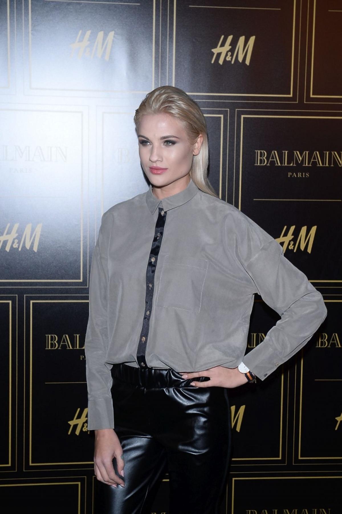 Karolina Gilon na prezentacji Balmain dla H&M