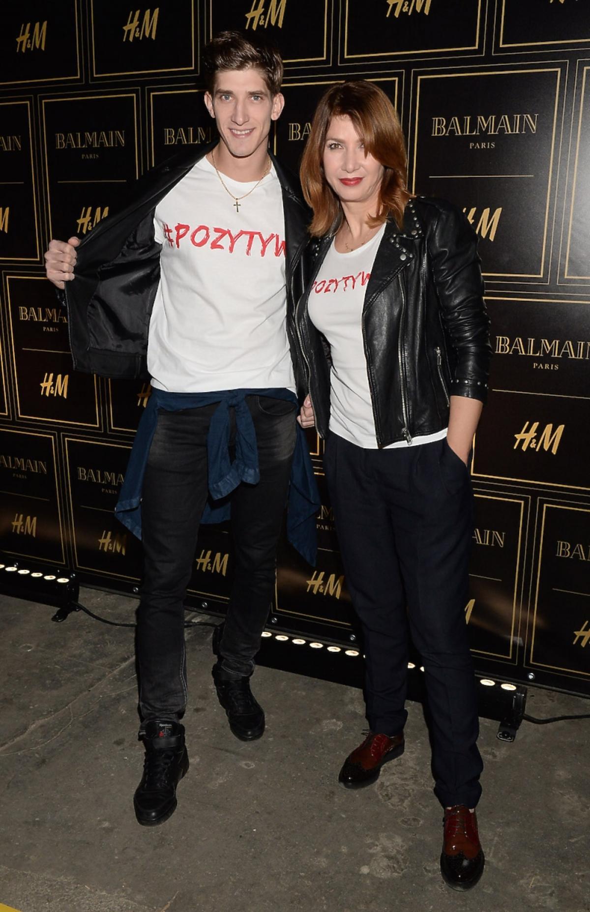 Michał Baryza i Grażyna Wolszczak na pokazie Balmain dla H&M