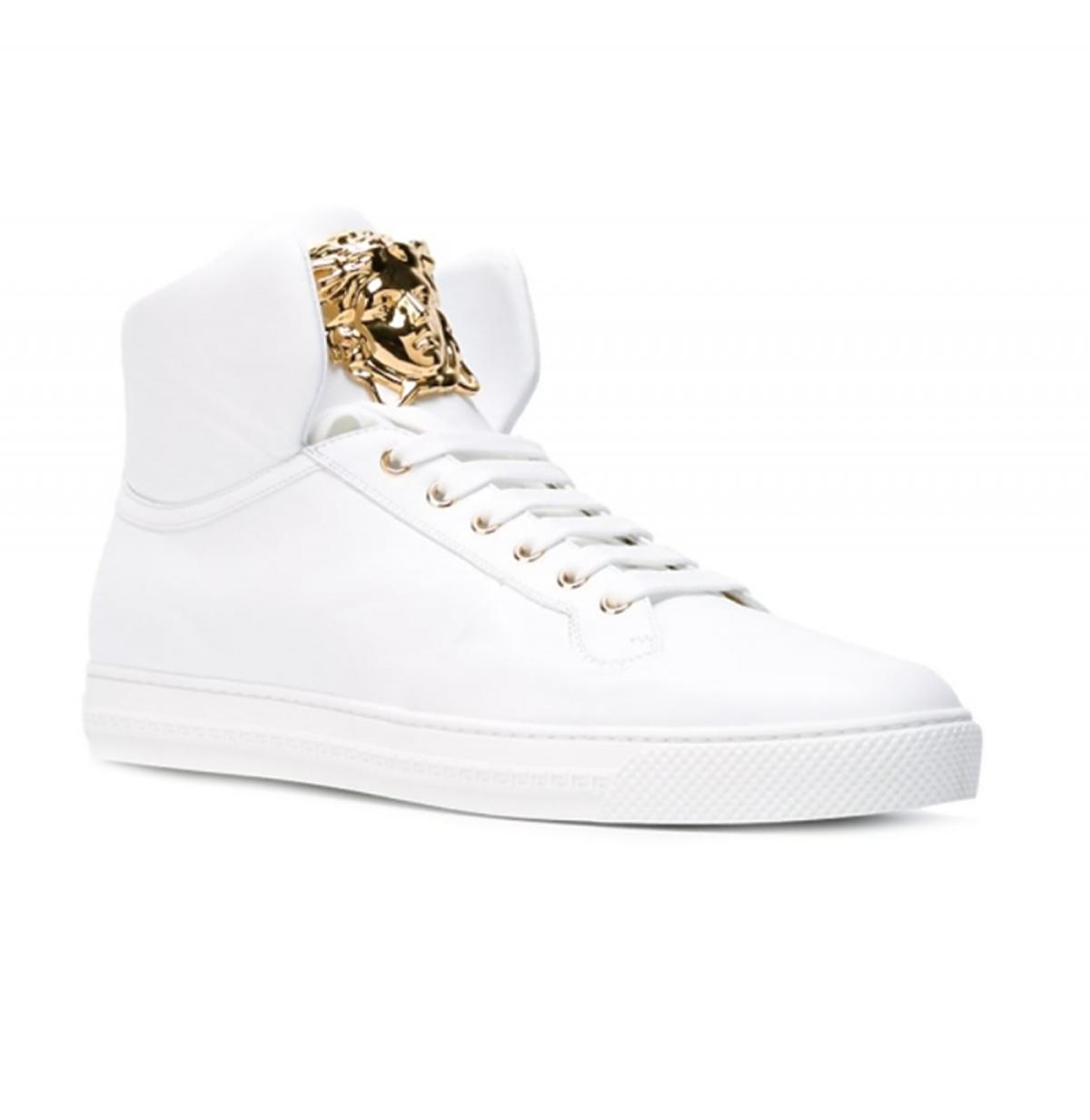 białe sportowe męskie buty marki Versace