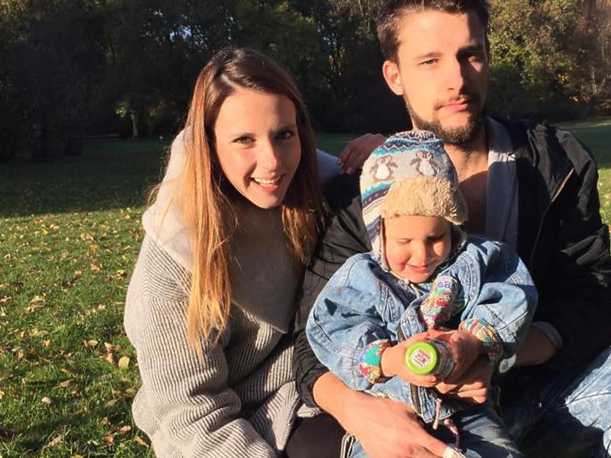 Natalia Gulkowska z rodziną - synem i partnerem
