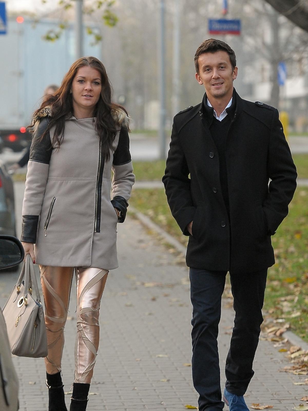 Agnieszka Radwańska i jej partner - Dawid Celt na spacerze