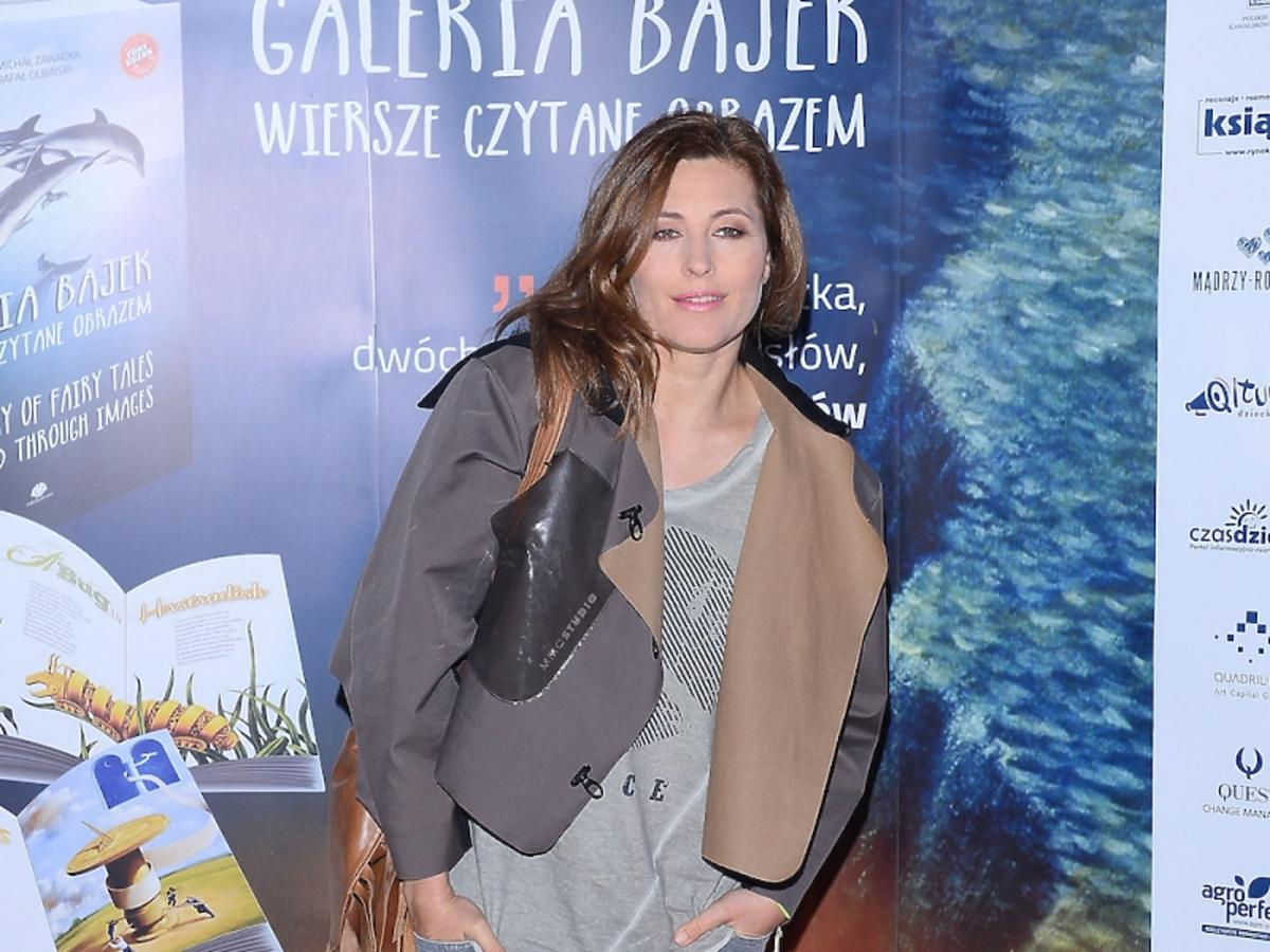 Beata Sadowska w jeansach