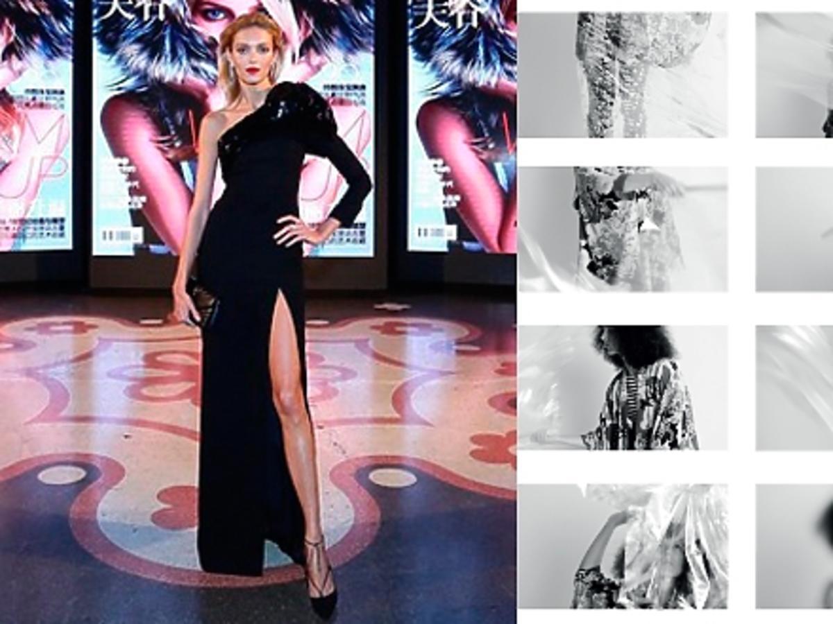 Anja Rubik w czarnej sukni, Monika Brodka w afto w sesji do 25Magazine
