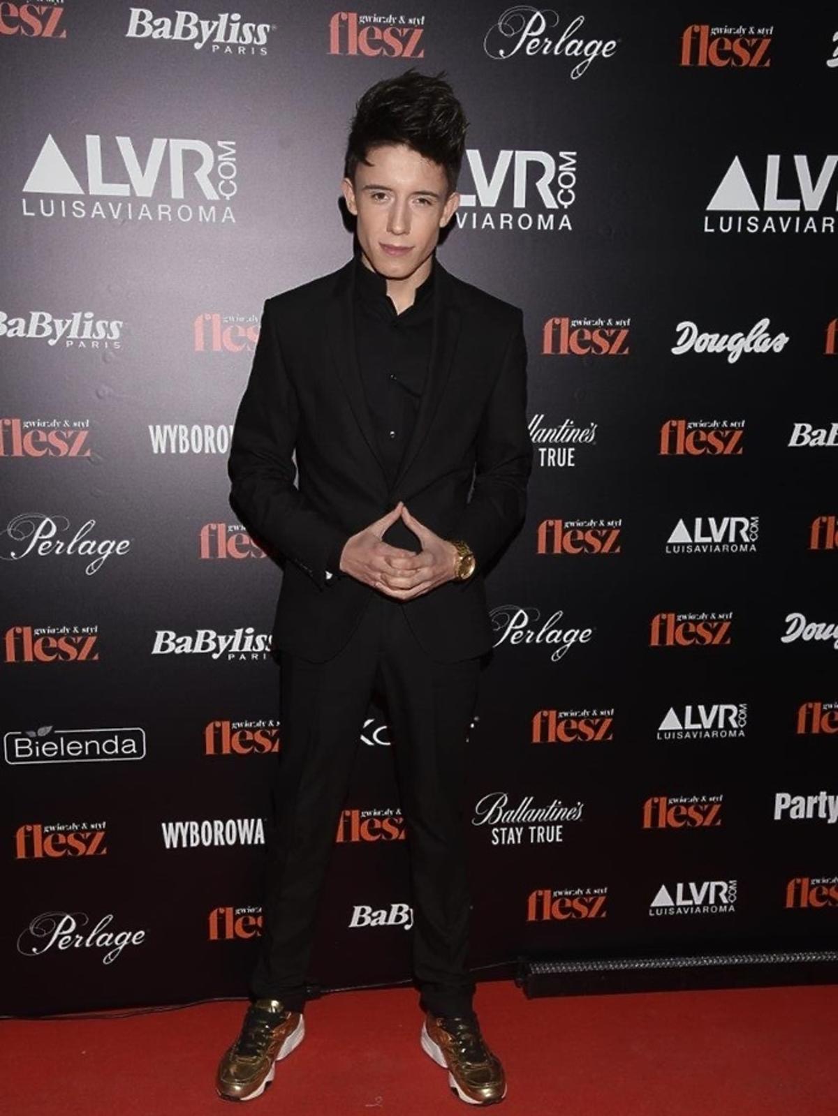 Dawid Kwiatkowski na gali Flesz Fashion Night