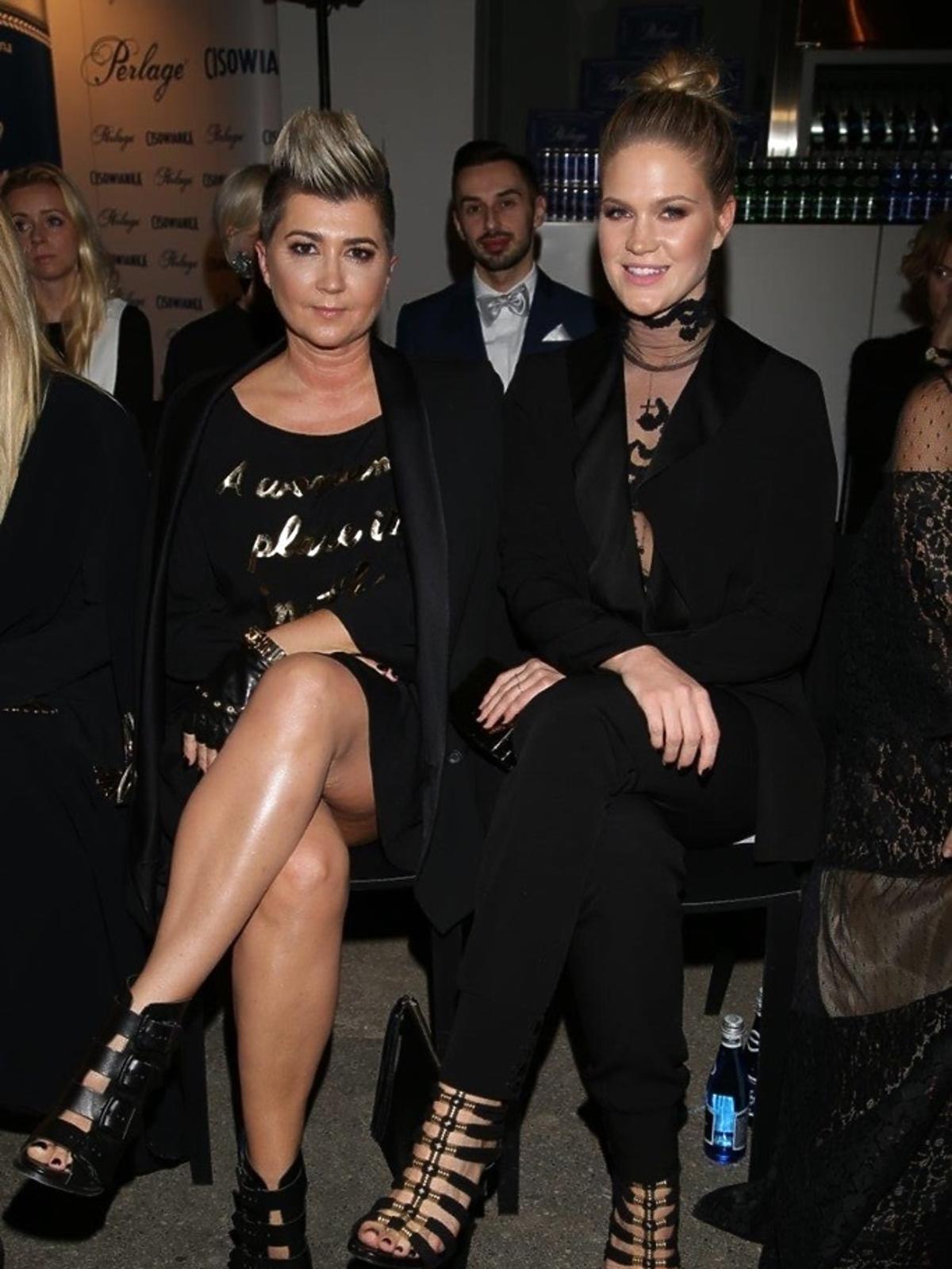 Zosia Ślotała i Lidia Kalita na gali Flesz Fashion Night