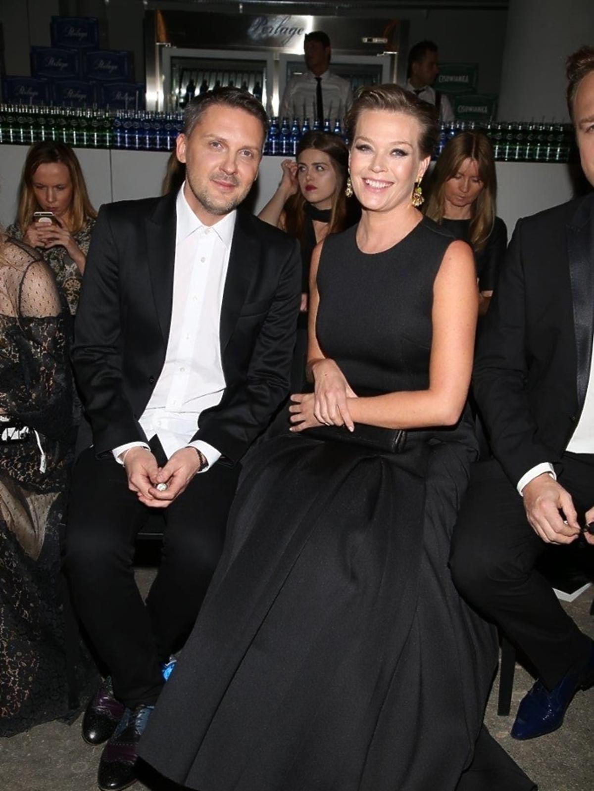 Tamara Arciuch w czarnej sukni