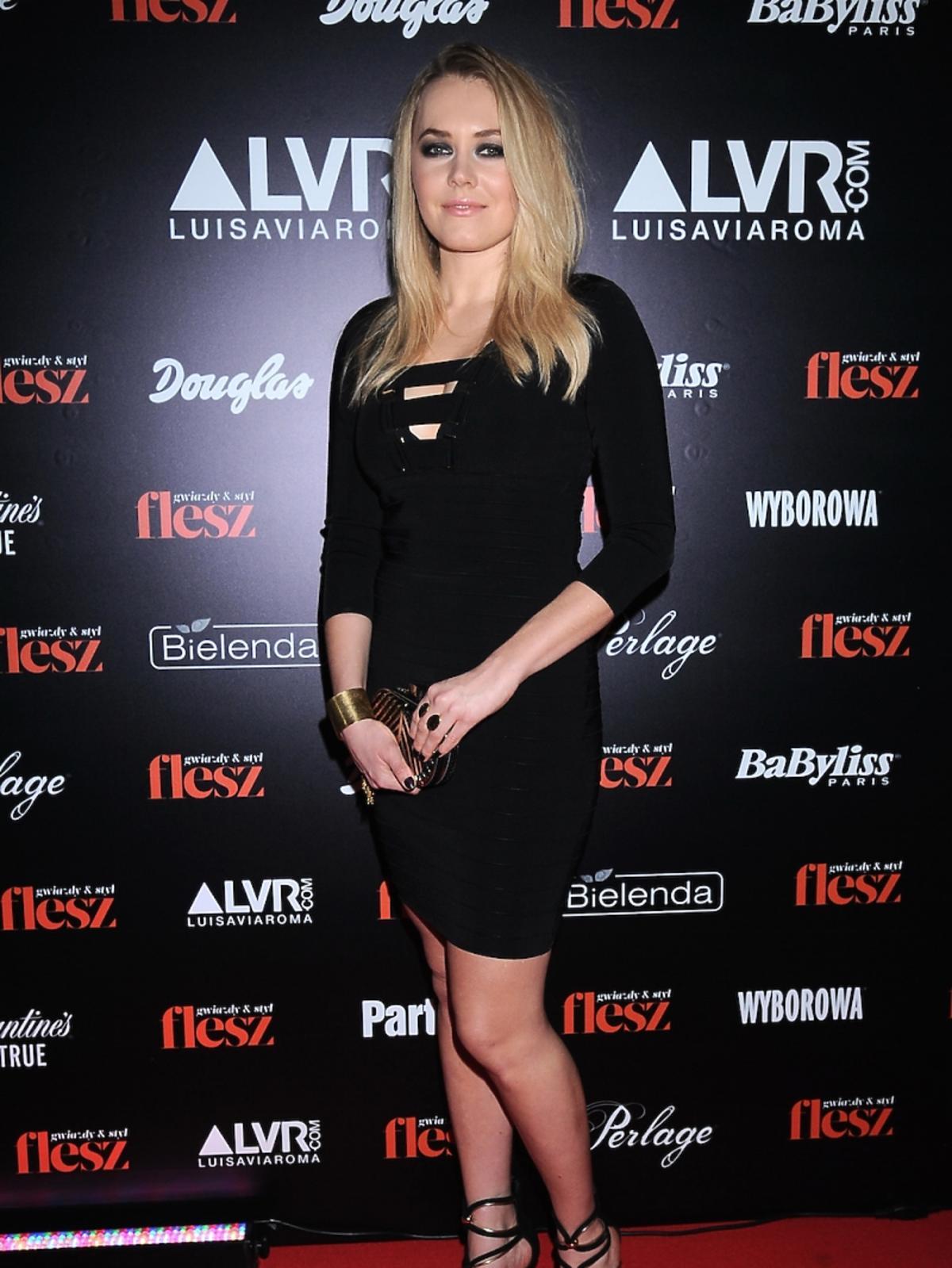 Magdalena Lamparska na gali Flesz Fashion Night