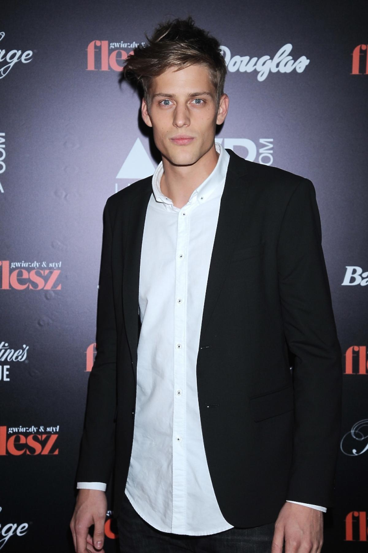 Jakob Kosel na imprezie Flesz Fashion Night
