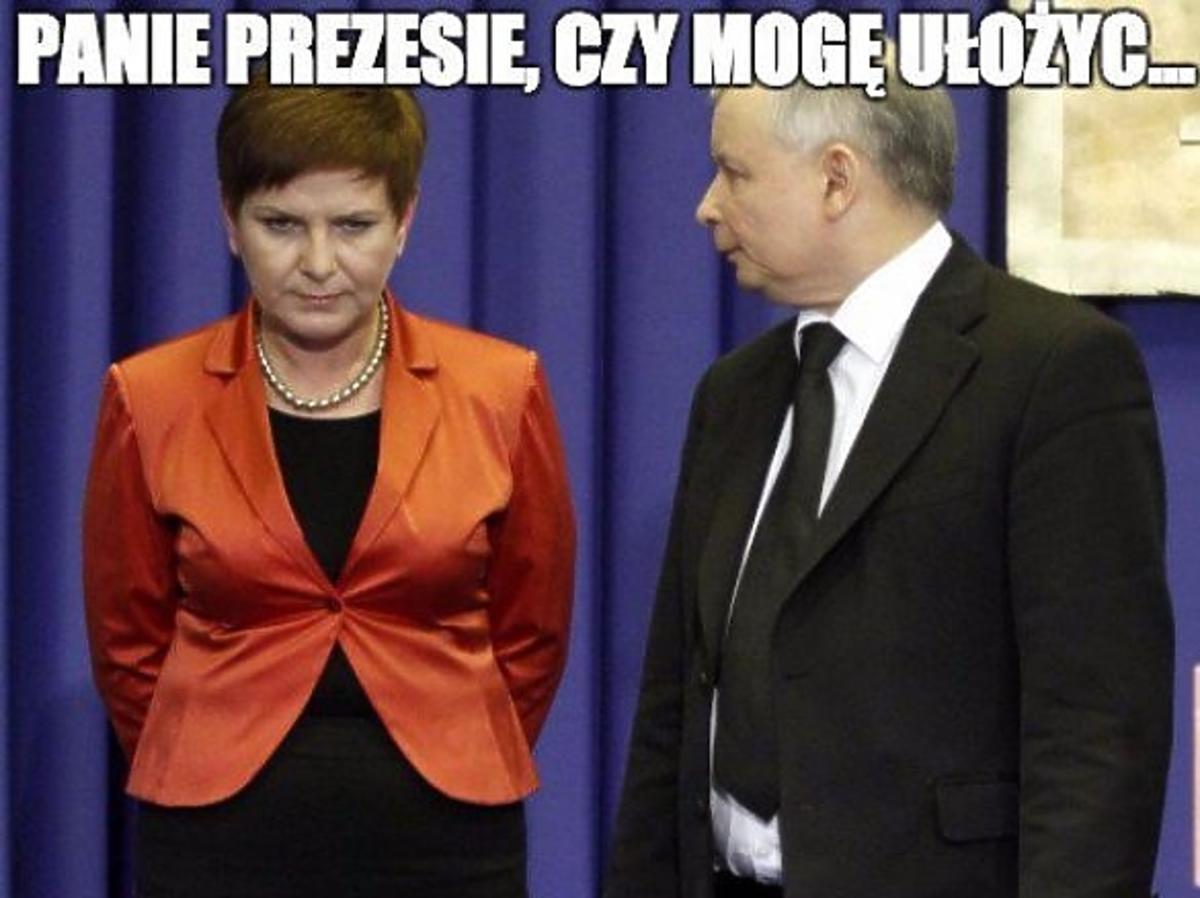 Jarosław Kaczyński, Beata Szydło - memy po ogłoszeniu składu rządu