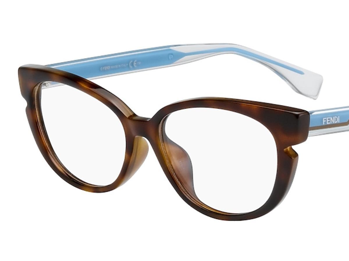 okulary korekcyjne niebiesko - brązowe