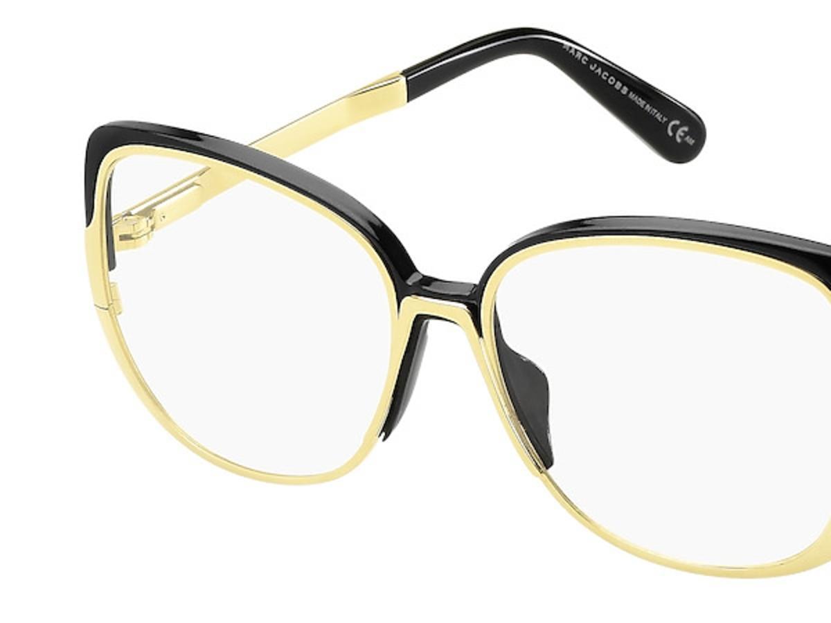 okulary czarno-złote