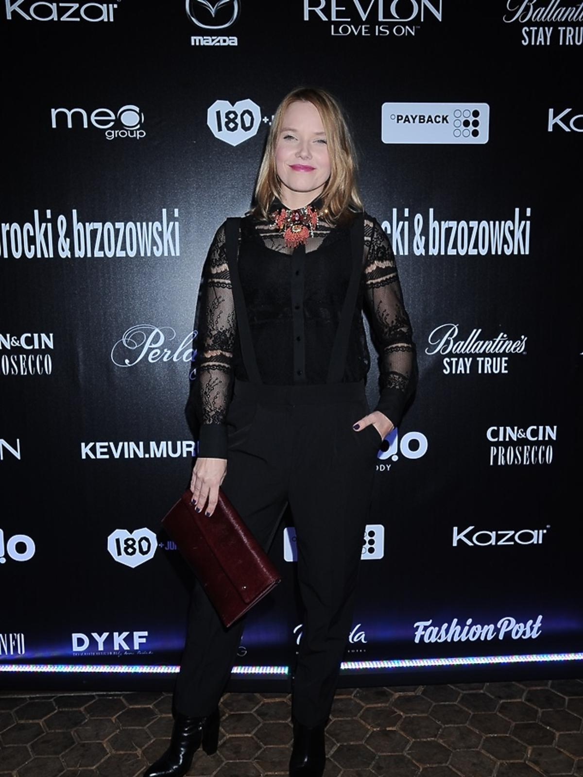 Roma Gąsiorowska w czarnej bluzce