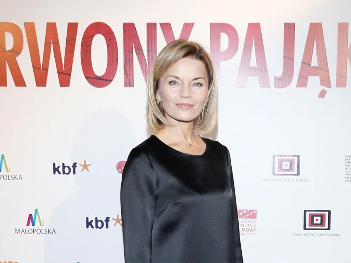 Małgorzata Foremniak w czarnej sukience