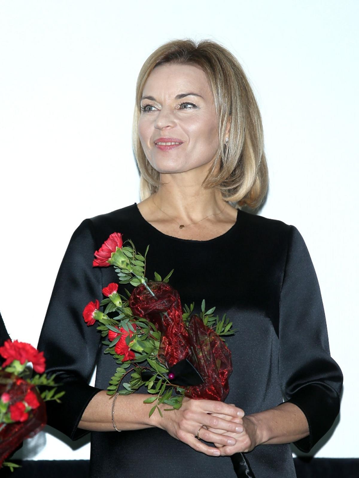 Małgorzata Foremniak z różami
