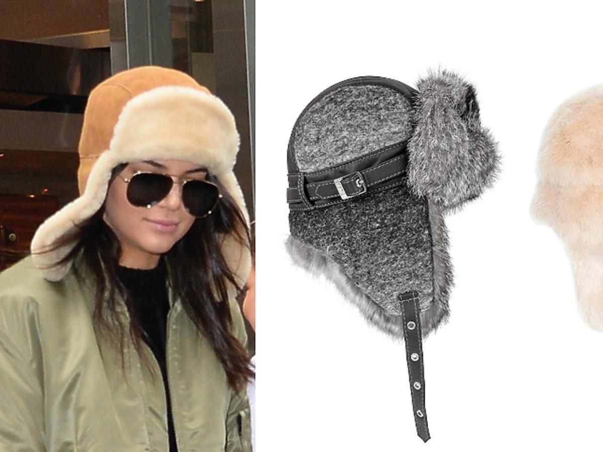 Kendall Jenner i najmodniejsze czapki pilotki z futerkiem