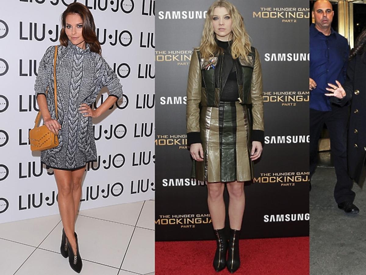 Paulina Sykut, Natalie Dormer, Selena Gomez w czarnych botki z suwakami