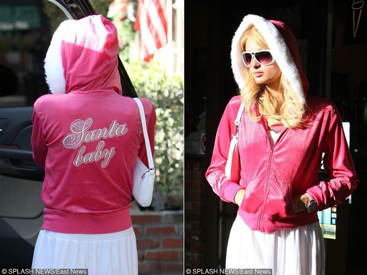 Paris Hilton w świątecznej bluzie