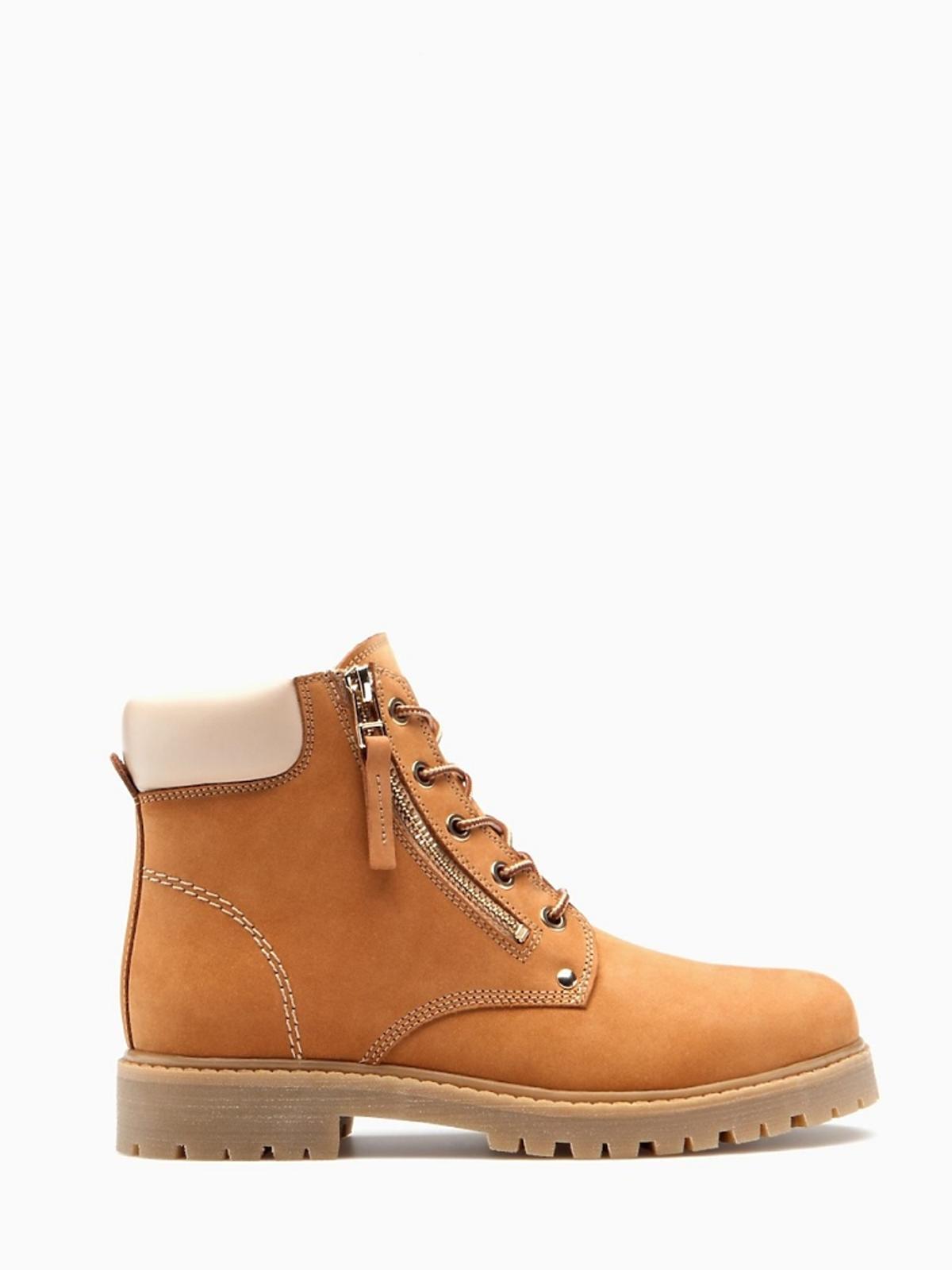 beżowe buty trapery