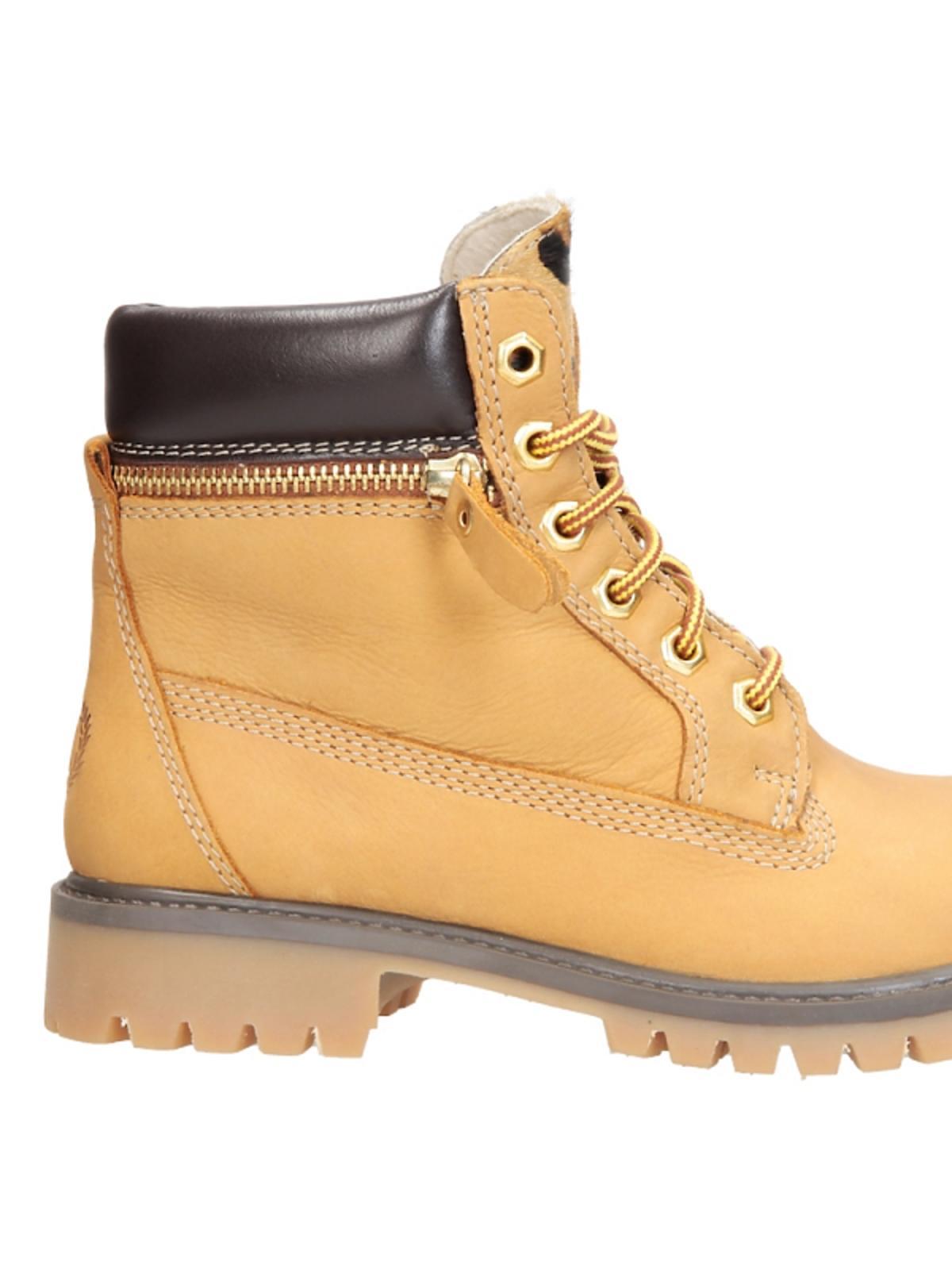 żółte buty trapery