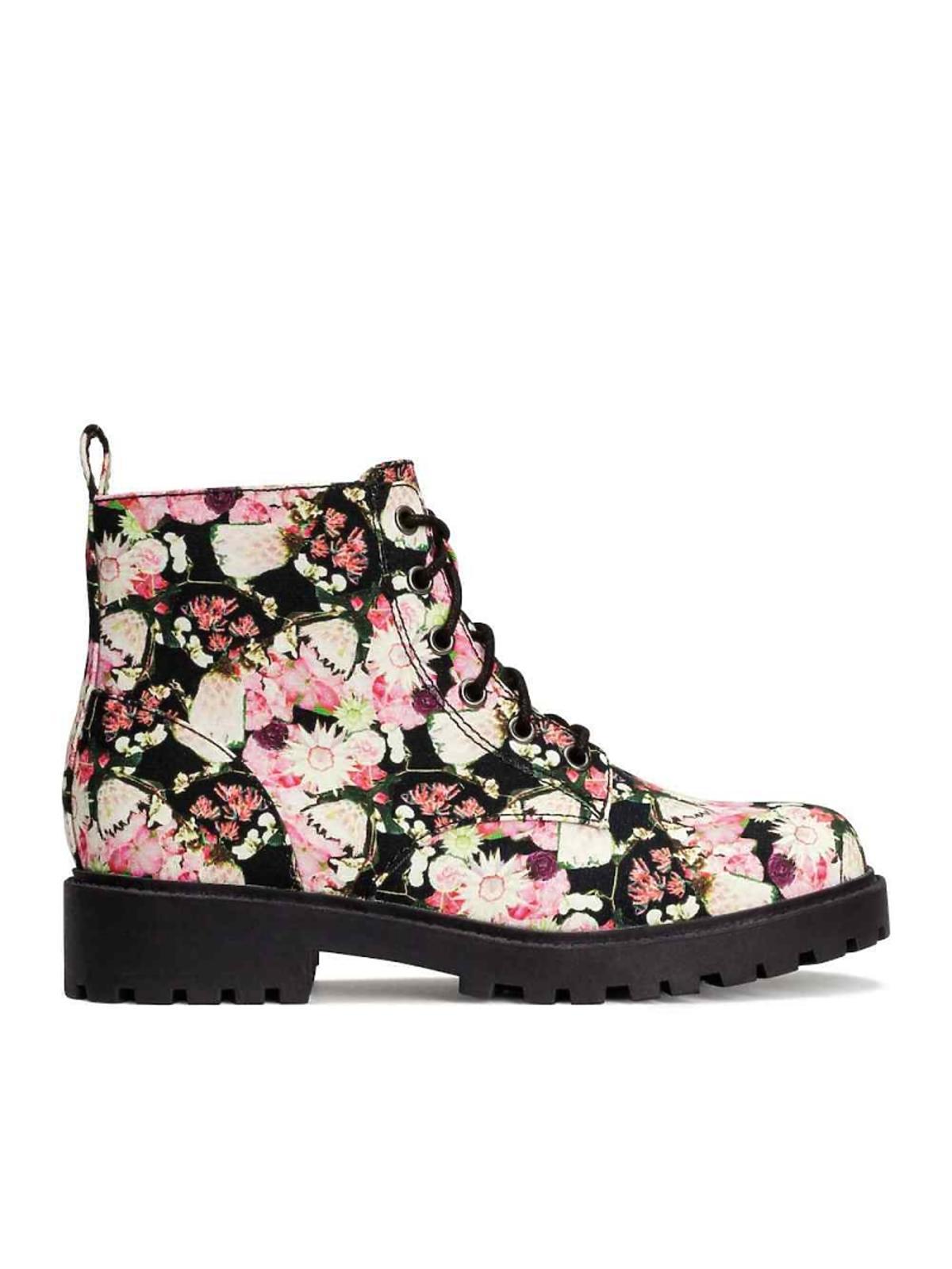 buty trapery w kwiaty