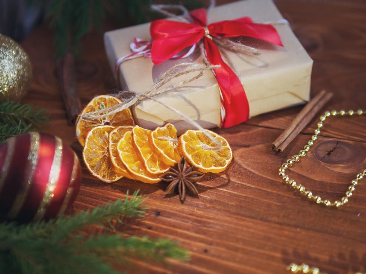 ozdoby z plasterków pomarańczy