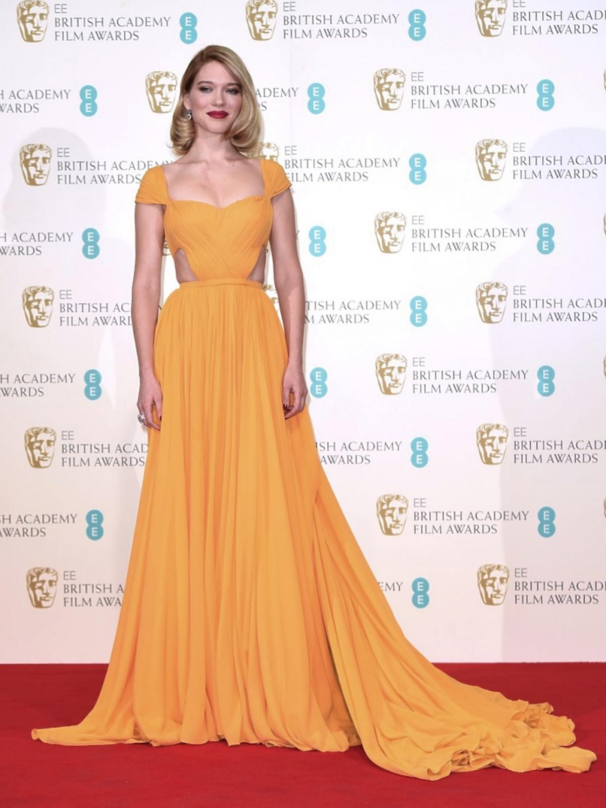 Lea Seydoux w żółtej sukni do ziemi