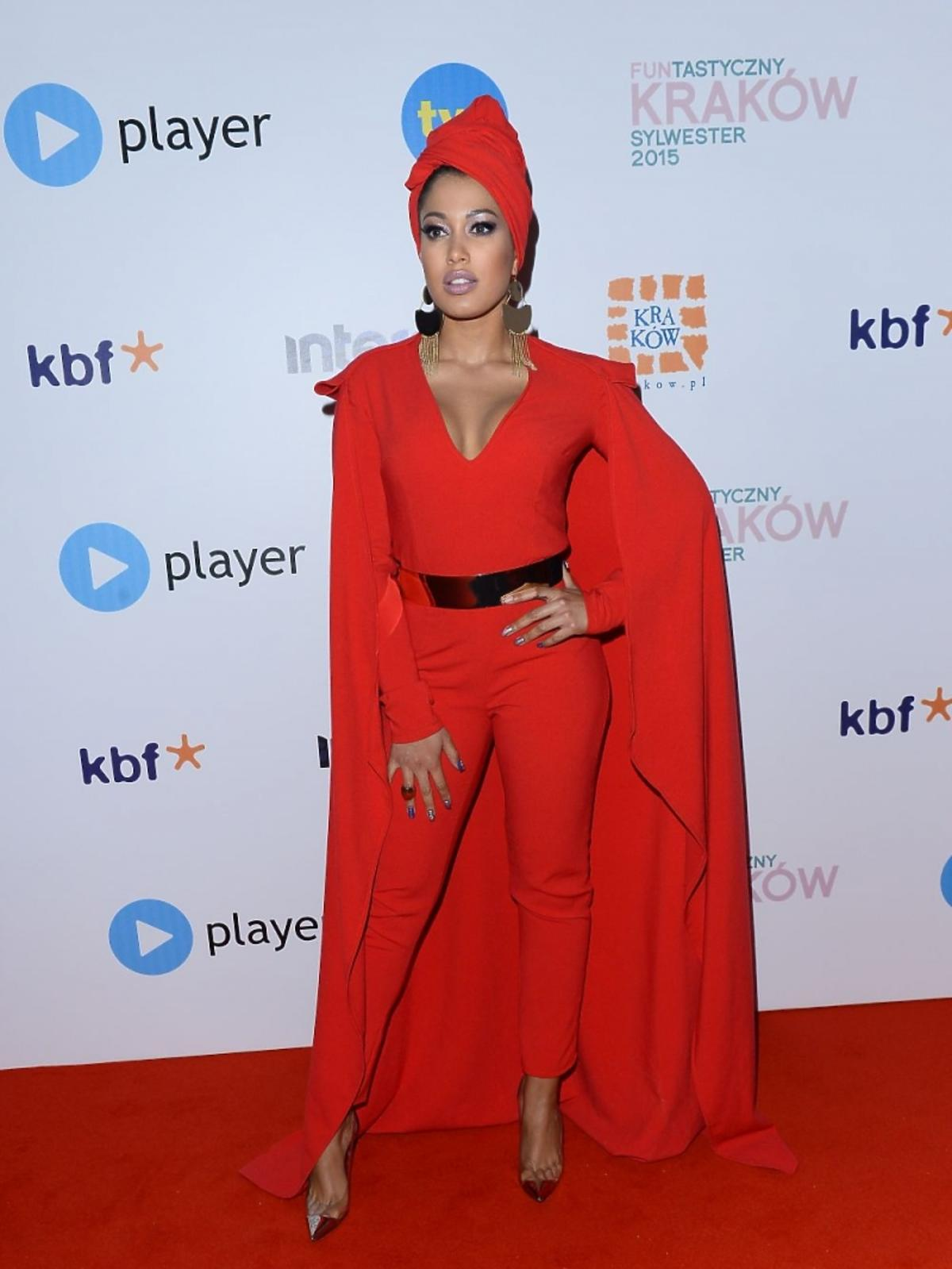 Patricia Kazadi w czerwonej sukni