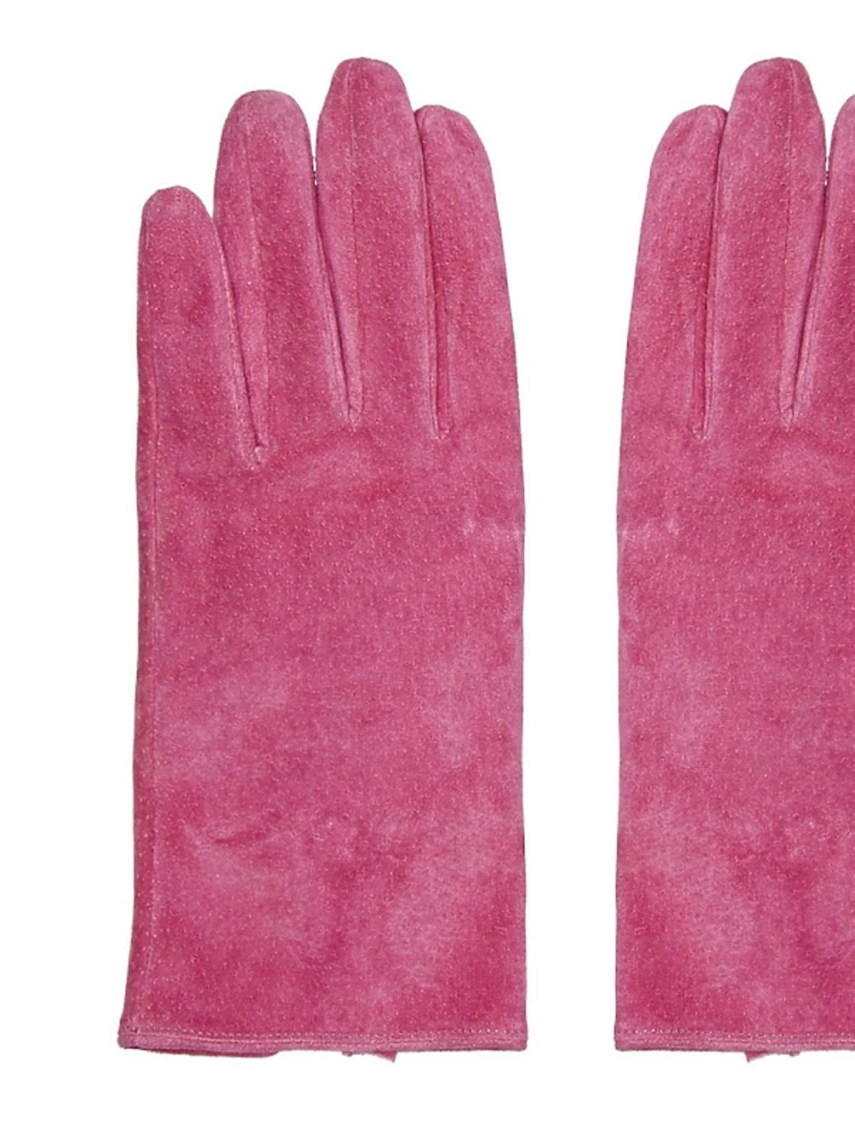 różowe rękawiczki