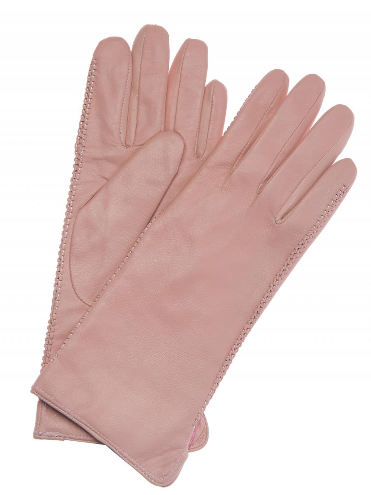 rękawiczki w kolorze łososiowym