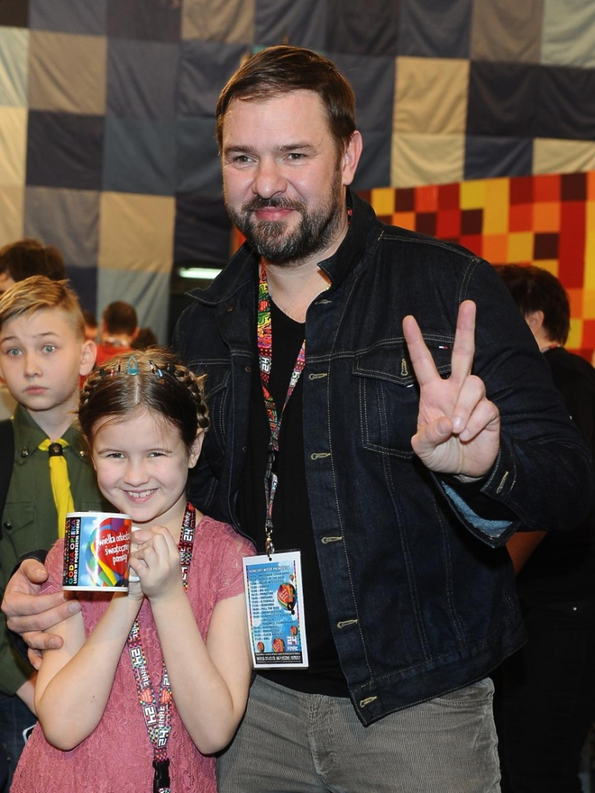 Tomasz Karolak z córką Lenką na Wielkie Orkiestrze Świątecznej Pomocy