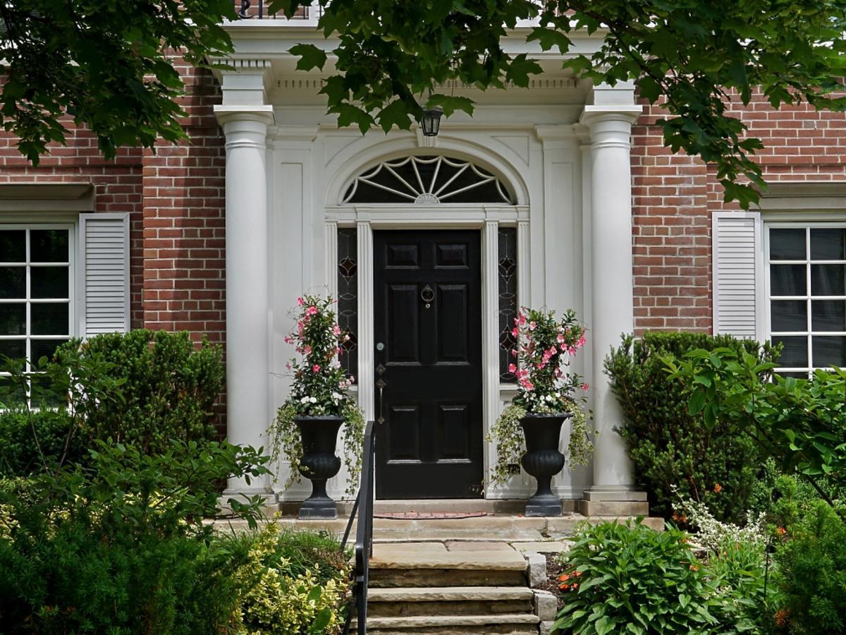 eleganckie wejście do domu