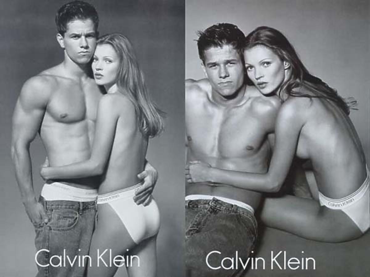 reklama Calvin Klein z nagimi Kate Moss i Mark Wahlberg