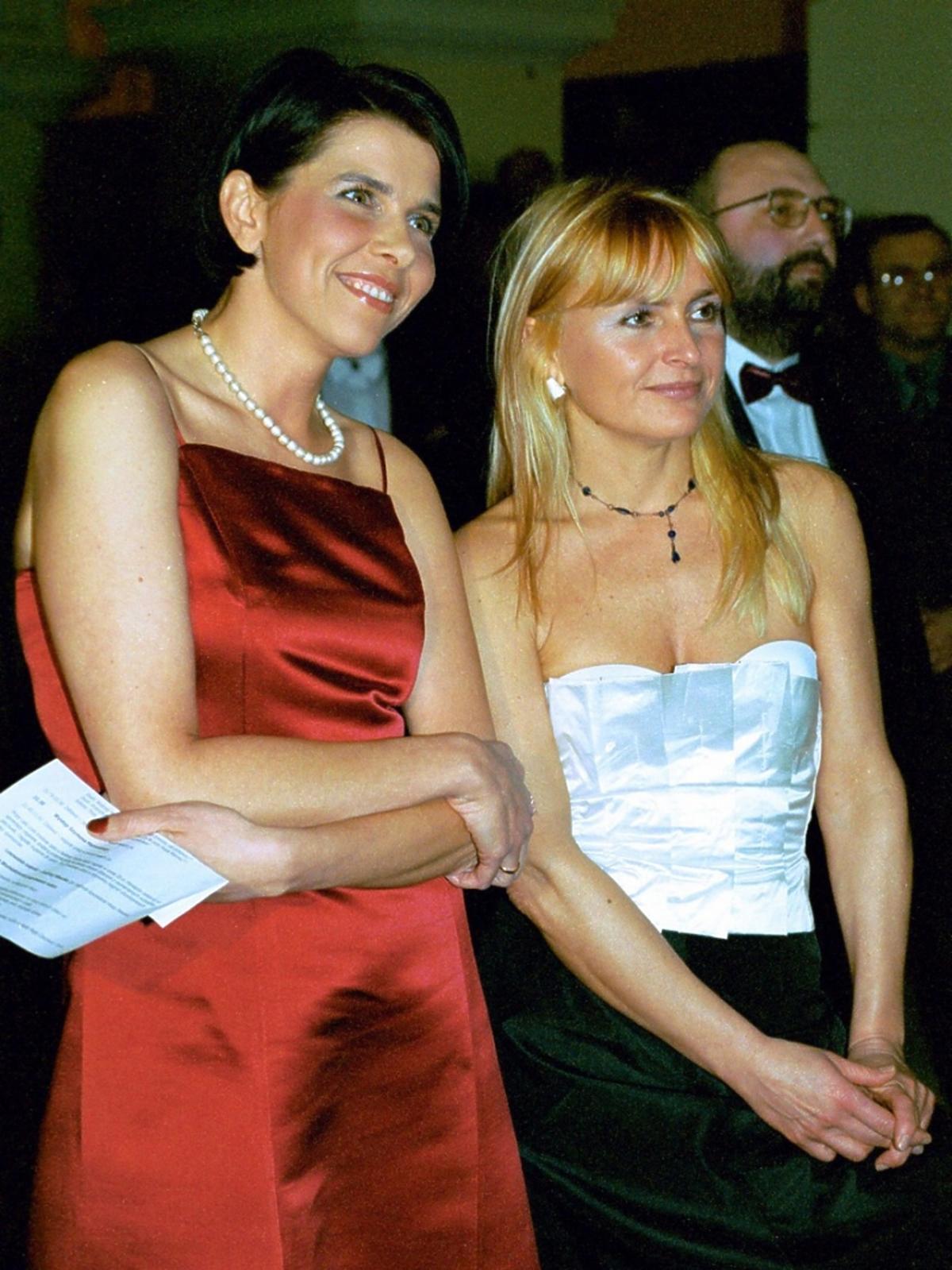 Monika Olejnik i Katarzyna Kolenda Zaleska uśmiechnięte