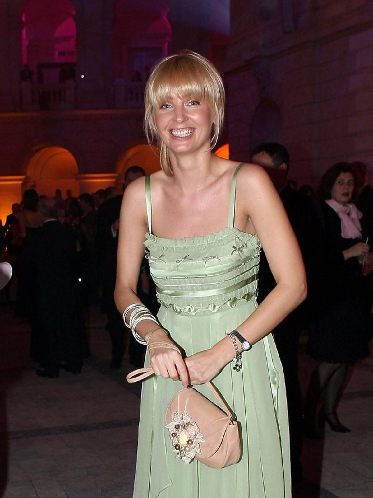 Agnieszka Szulim w 2006 roku na Charytatywnym Balu Dziennikarzy