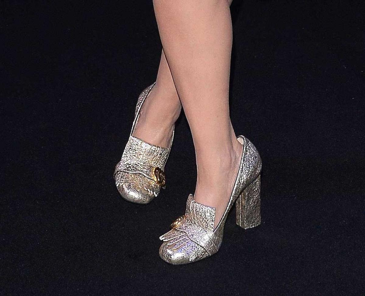 Magda Gessler w błyszczących butach