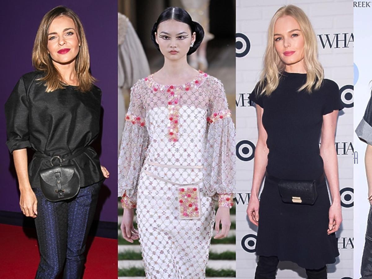 Edyta Herbuś, Chanel, Kate Bosworth, Viola Kołakowska z torebkami na pasku w talii