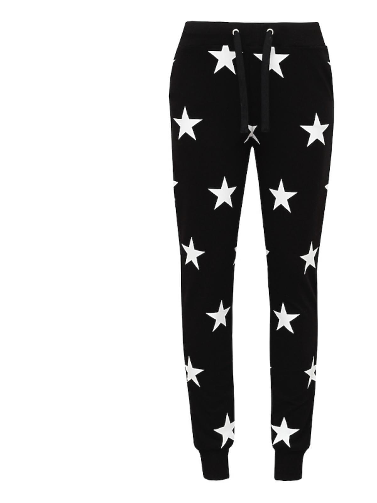 Spodnie czarne w gwiazdki
