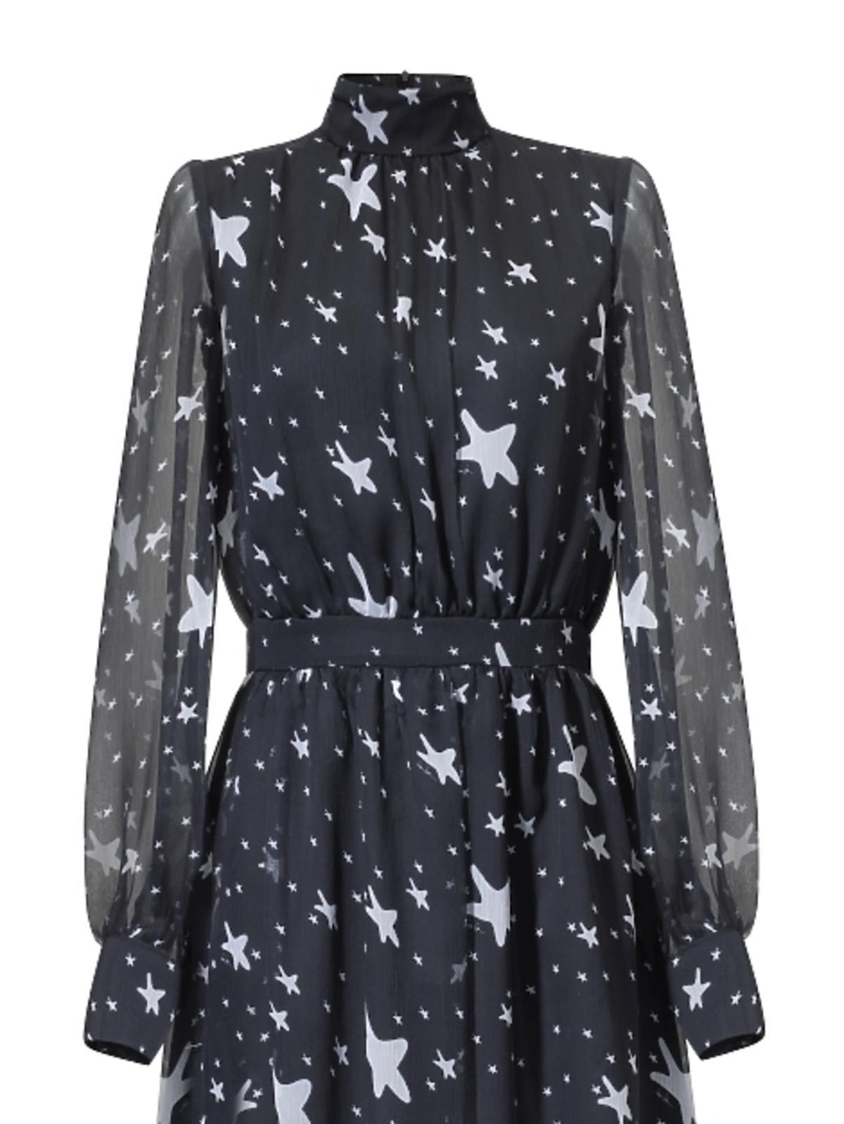 Sukienka czarna w gwiazdki