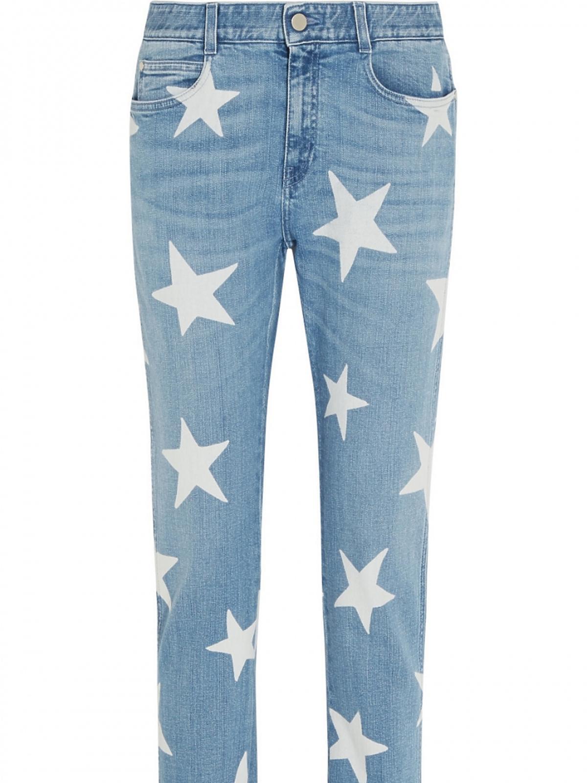 Spodnie dżinsowe w gwiazdki