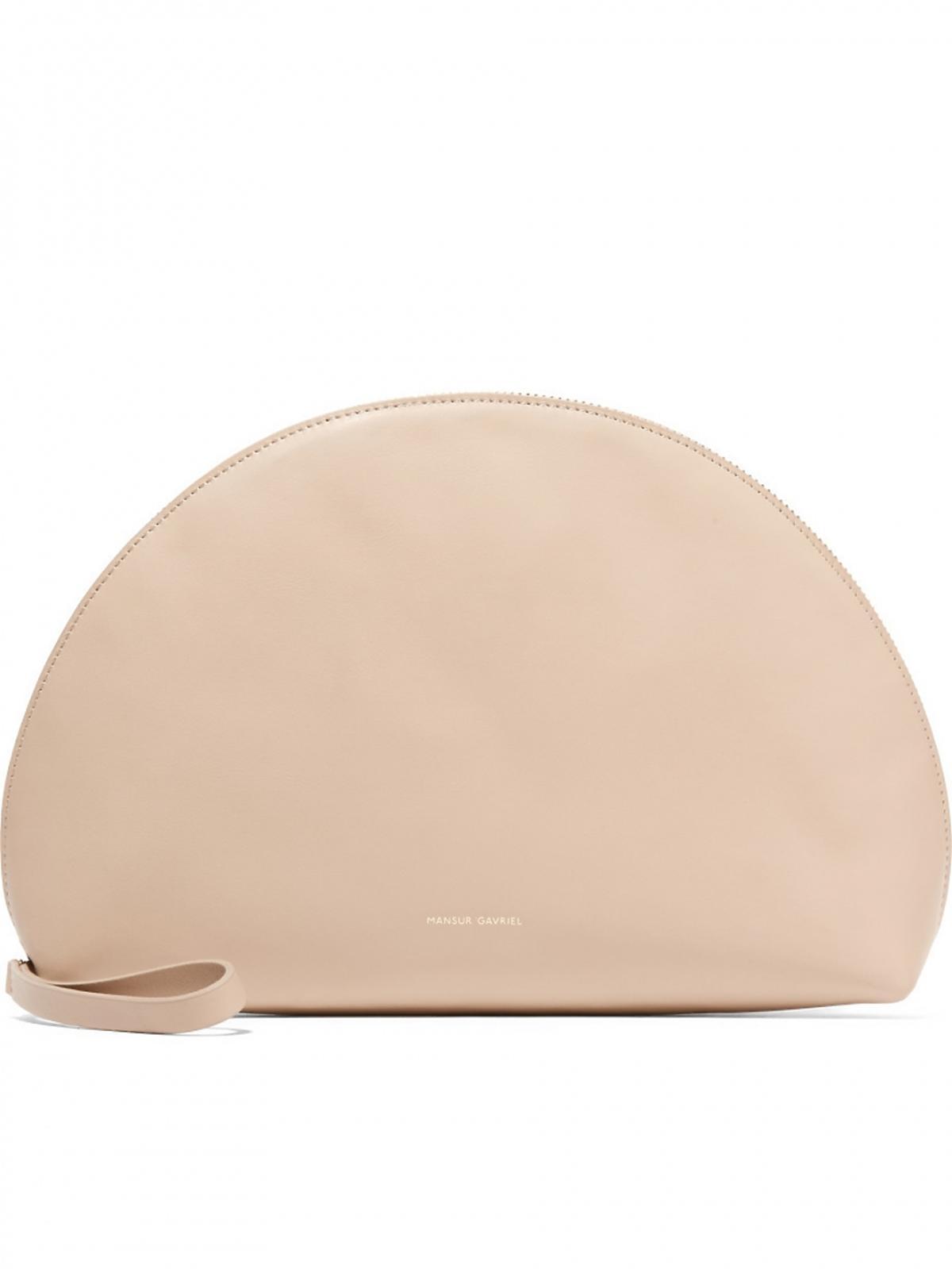 Beżowa torba o kształcie półksiężyca