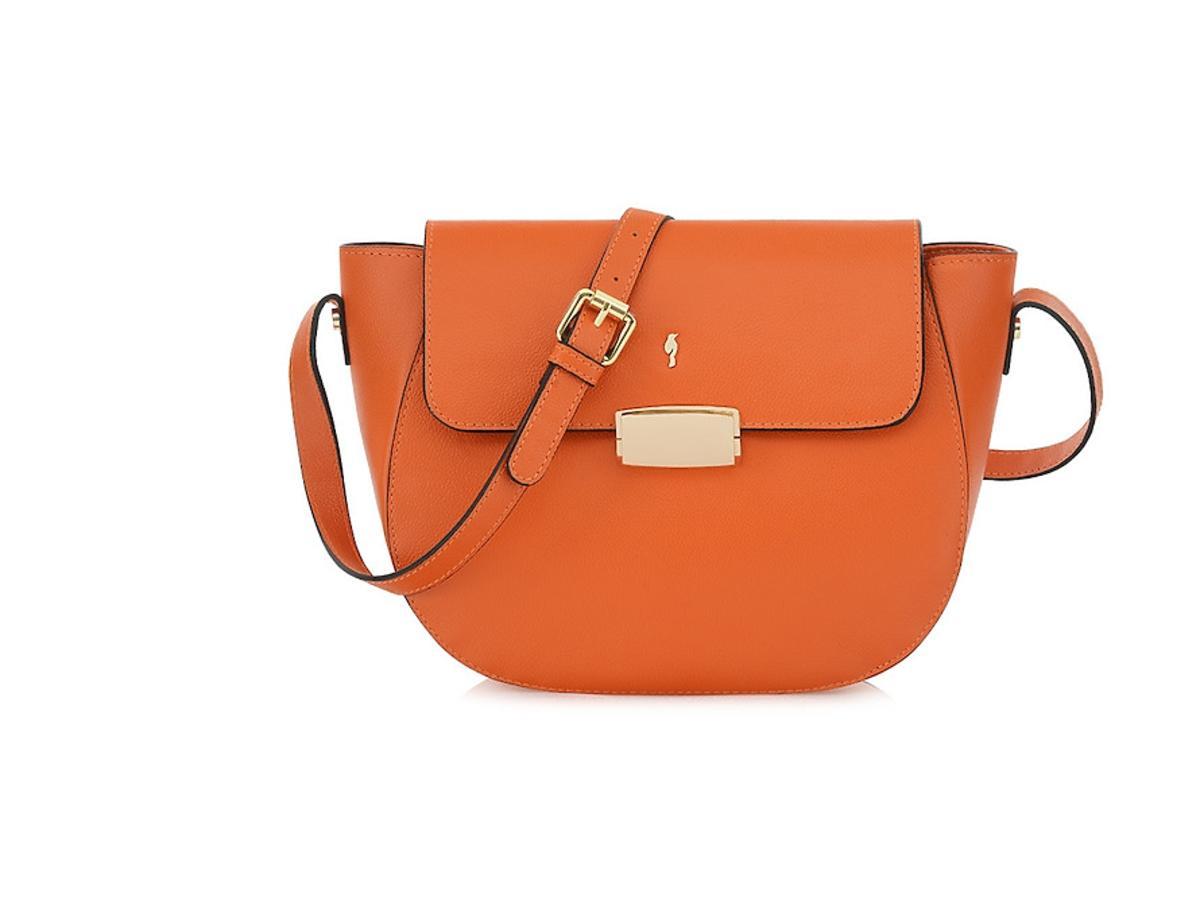 Pomarańczowa torba na pasku