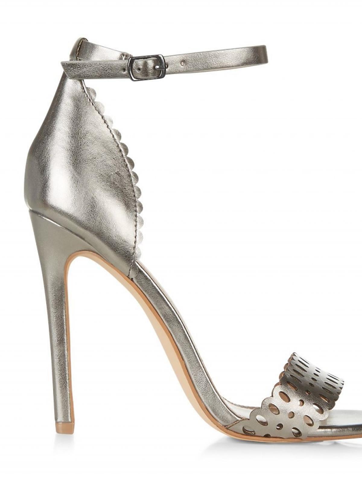 złote sandały na szpilce