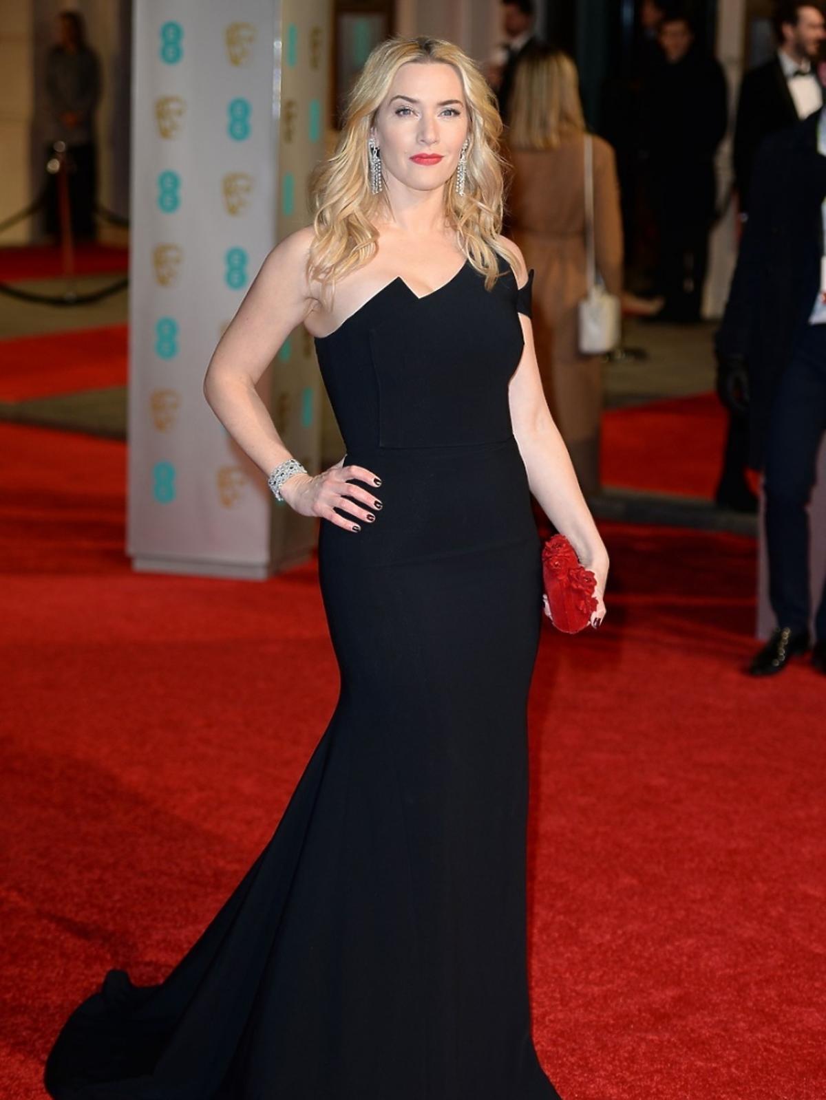 Kate Winslet w czarnej sukni do ziemi