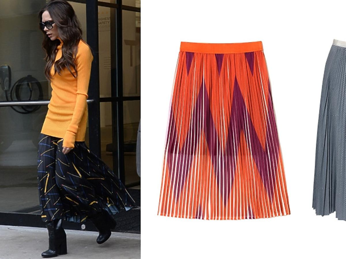 Victoria Beckham, plisowane spódnice